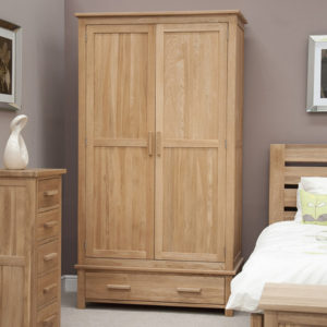 Solid Oak Double Wardrobes