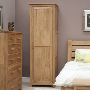 Solid Oak Single Wardrobes