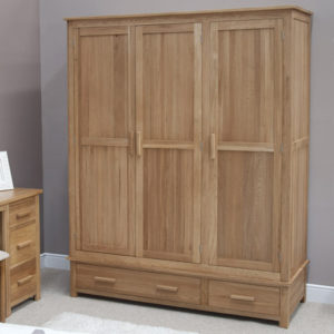 Solid Oak Triple Wardrobes