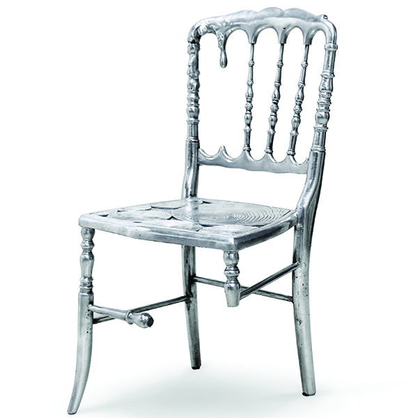 Chair Furniture Emporium emporium 3 legged silver chair - robson furniture