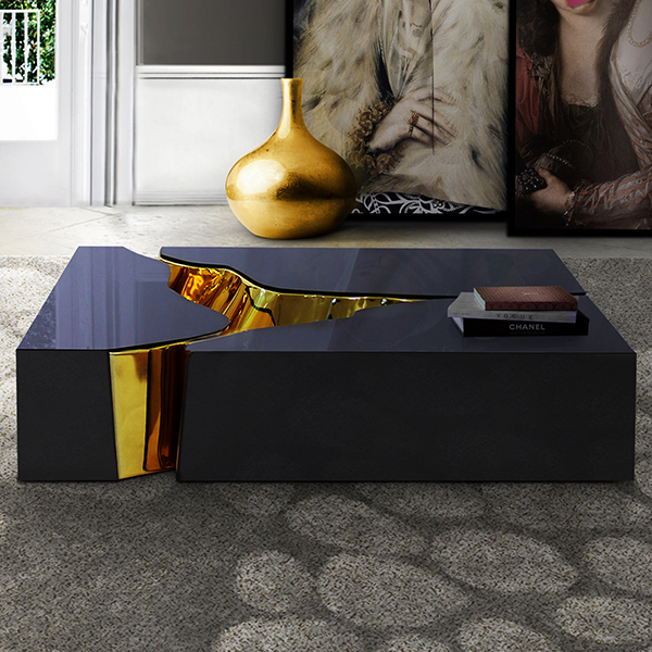Nice Lapiaz Black Luxury Coffee Table