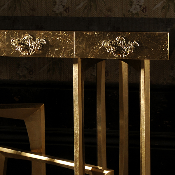 Metropolis Gold Luxury Console Table Robson Furniture