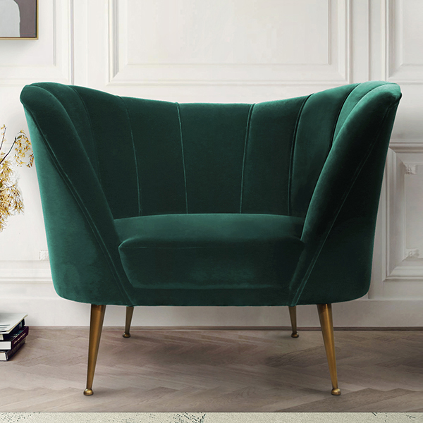 Andes Luxury Green Armchair - Robson Furniture