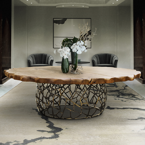 Apis Large Round Designer Dining Table