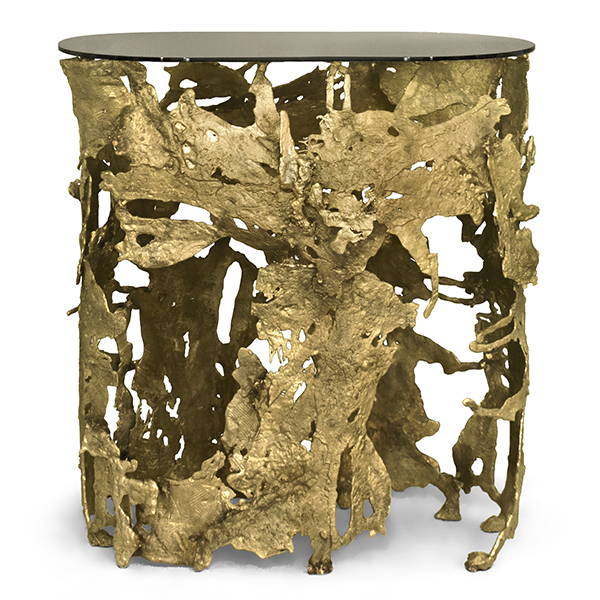 gold console table. Cay Gold Console Table