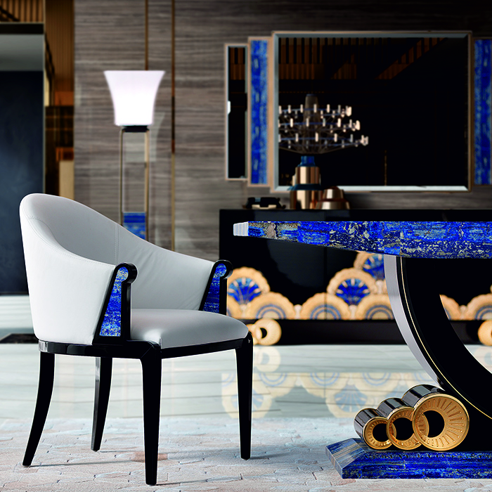 Tiffany Luxury Lapis Lazuli Crystal Dining Table Robson