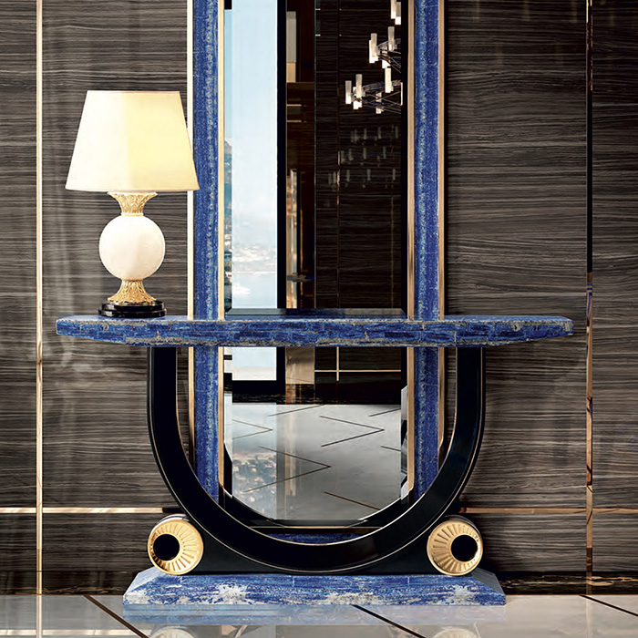 Tiffany Luxury Lapis Lazuli Crystal Console Table Robson