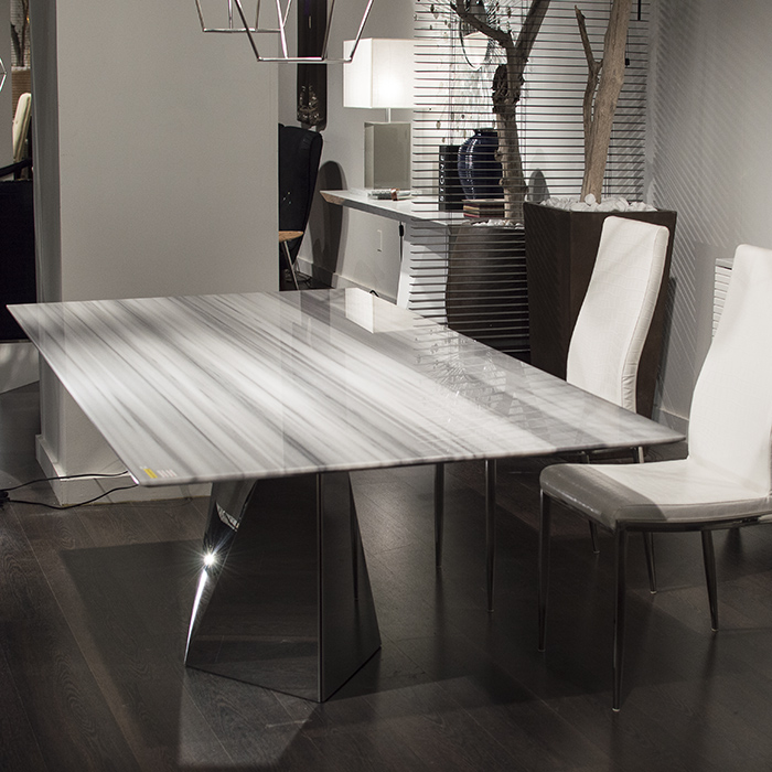 Freya Steel And Marble Dining Table Robson Furniture