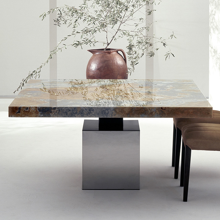 Incroyable Athens Princess Onyx Marble Square Dining Table