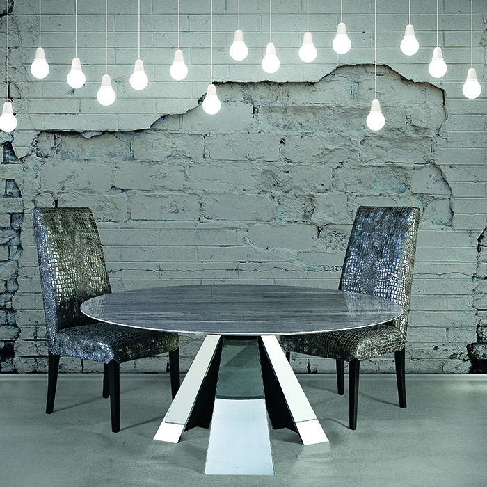 Barcelona Imperial Grey Marble Round Dining Table - Robson ...