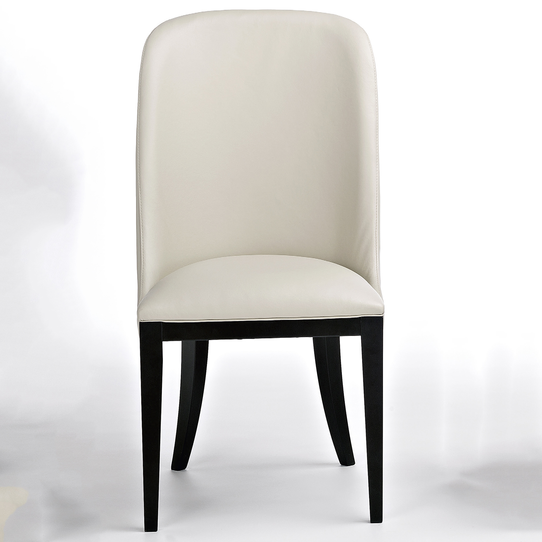 Cream Leather Dining Room Chairs: Flamingo Designer Cream Leather Dining Chair