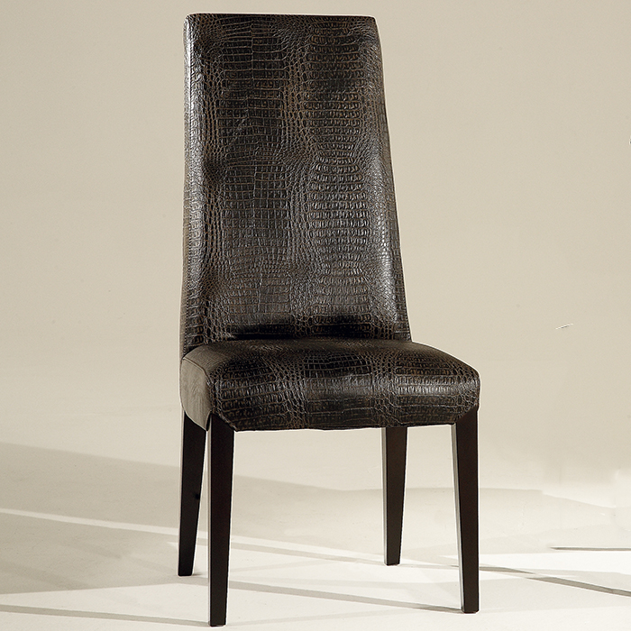 Designer Leather Chairs: Julian Designer Brown Leather Dining Chair
