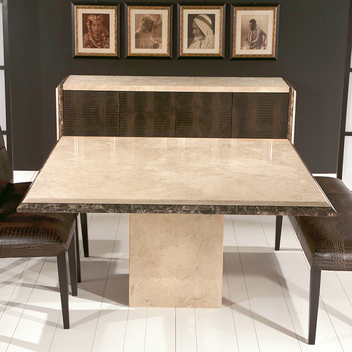 Porto Square Marble Dining Table Robson Furniture