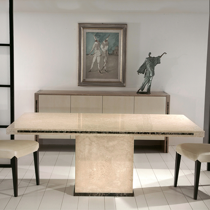 Peru Light Marble Large Dining Table