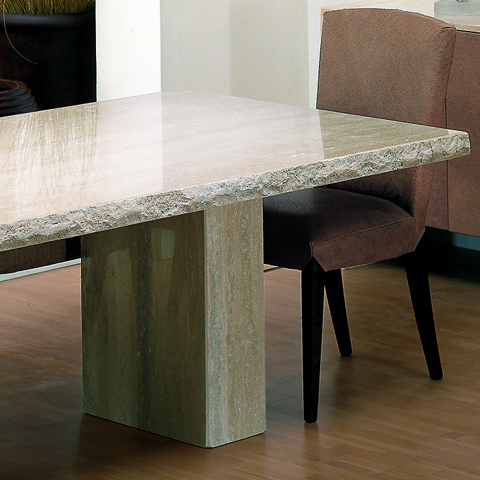 Rossini Chiseled Marble Large Dining Table Robson Furniture