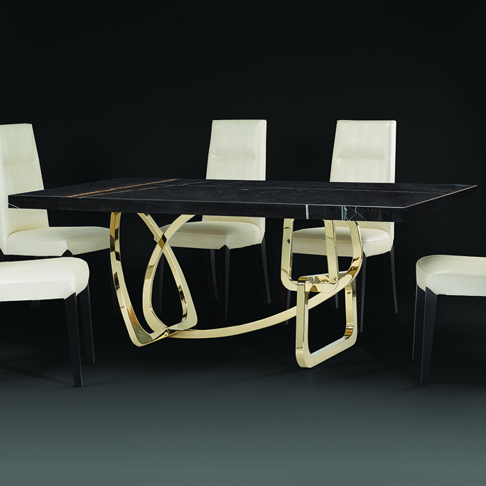 Tongo Large Black Marble Dining Table Robson Furniture