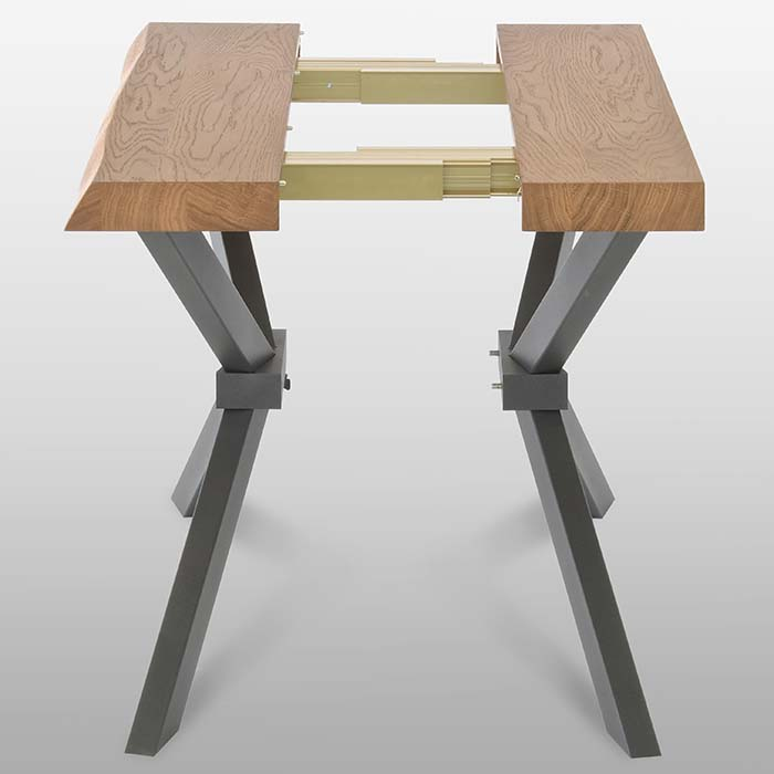 Singapore Oak Luxury Extending Console Dining Table  : D5D2711 from www.robsonfurniture.co.uk size 700 x 700 jpeg 22kB