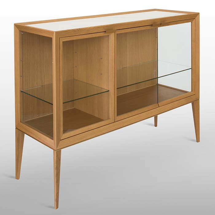 Mayda Oak Low Glass Luxury Display Cabinet - Robson Furniture 9d36c37ed