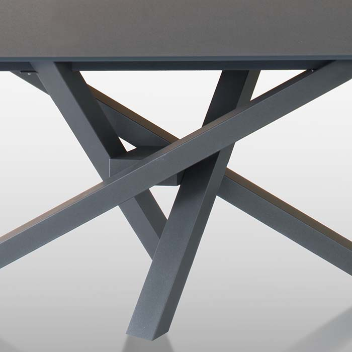 Singapore Designer Large Grey Glass Extending Dining Table  : D5D4783 Detail from www.robsonfurniture.co.uk size 700 x 700 jpeg 21kB