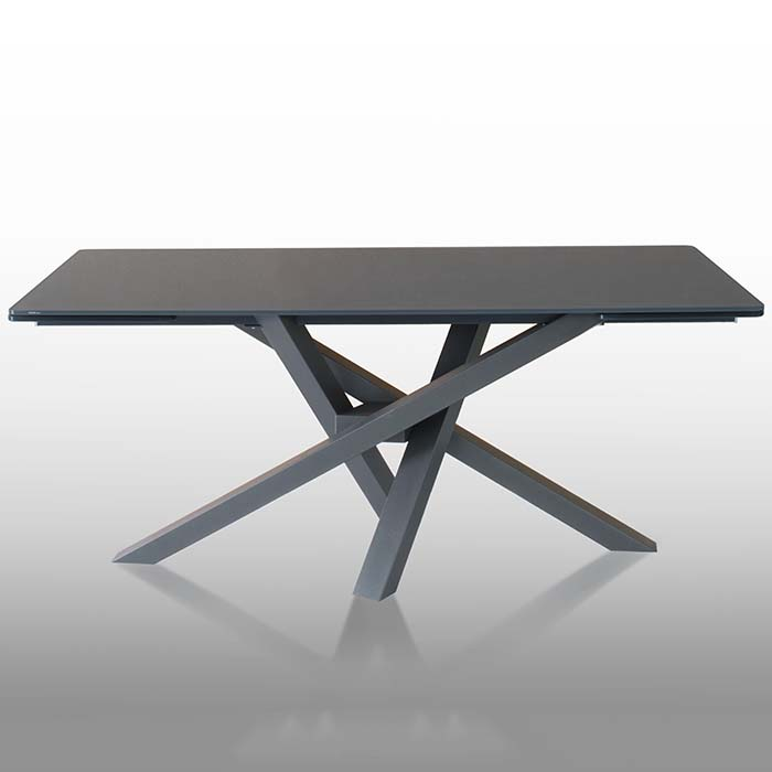 Singapore Designer Large Grey Glass Extending Dining Table