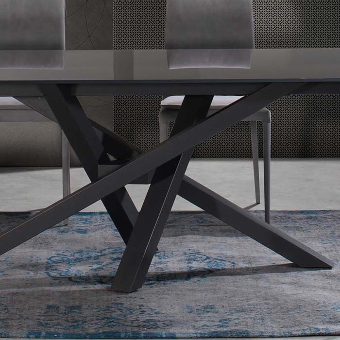 Singapore Designer Large Grey Glass Extending Dining Table  : D5D4843 Detail from www.robsonfurniture.co.uk size 700 x 700 jpeg 62kB