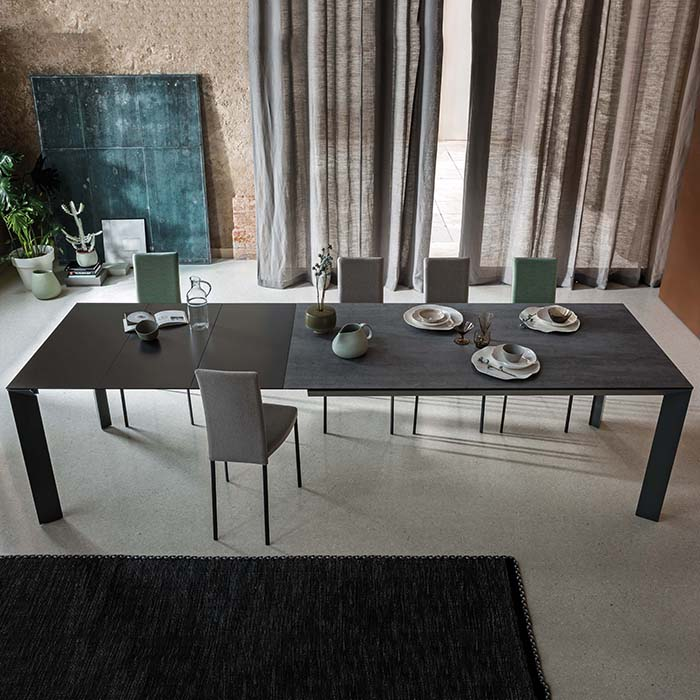 manhattan luxury extending extra large dining table robson furniture. Black Bedroom Furniture Sets. Home Design Ideas