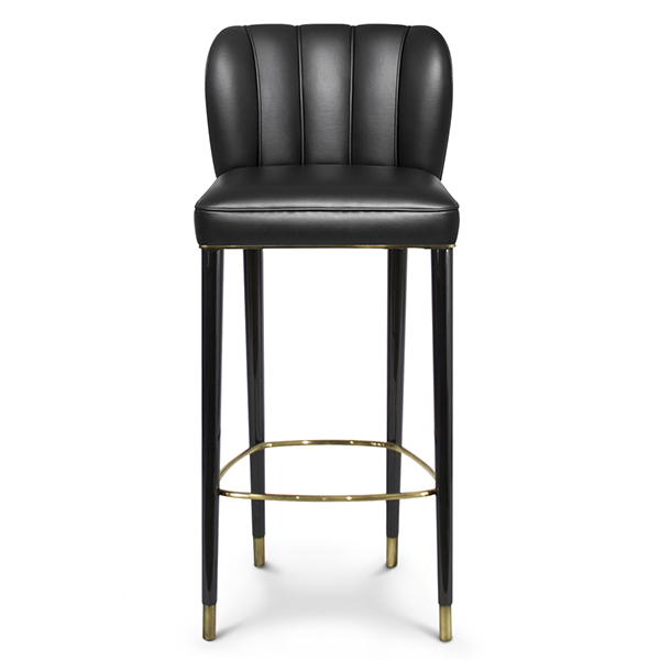 Dillon designer leather bar stool robson furniture for Luxury leather bar stools