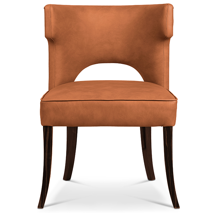 tan leather dining room chairs | Kensington Tan Leather Luxury Dining Chair - Robson Furniture