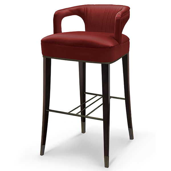 Karma Black Tall Modern Bar Chair Robson Furniture