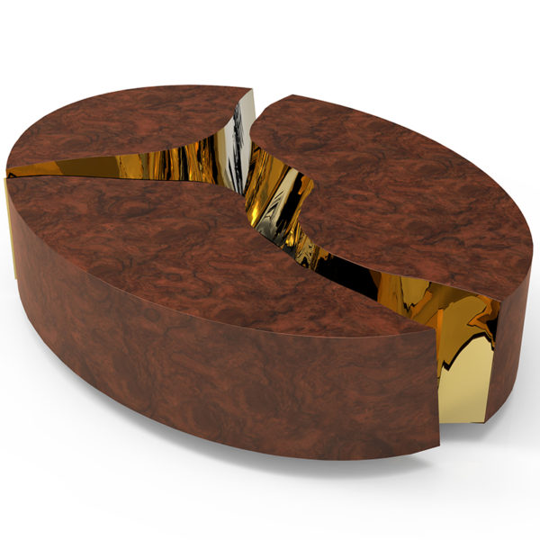 Walnut Oval Coffee Table Uk: Lapiaz Walnut Luxury Coffee Table