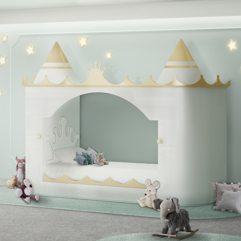 A1 Furniture Mattress Princess Night: Prince And Princess Luxury Castle Bed