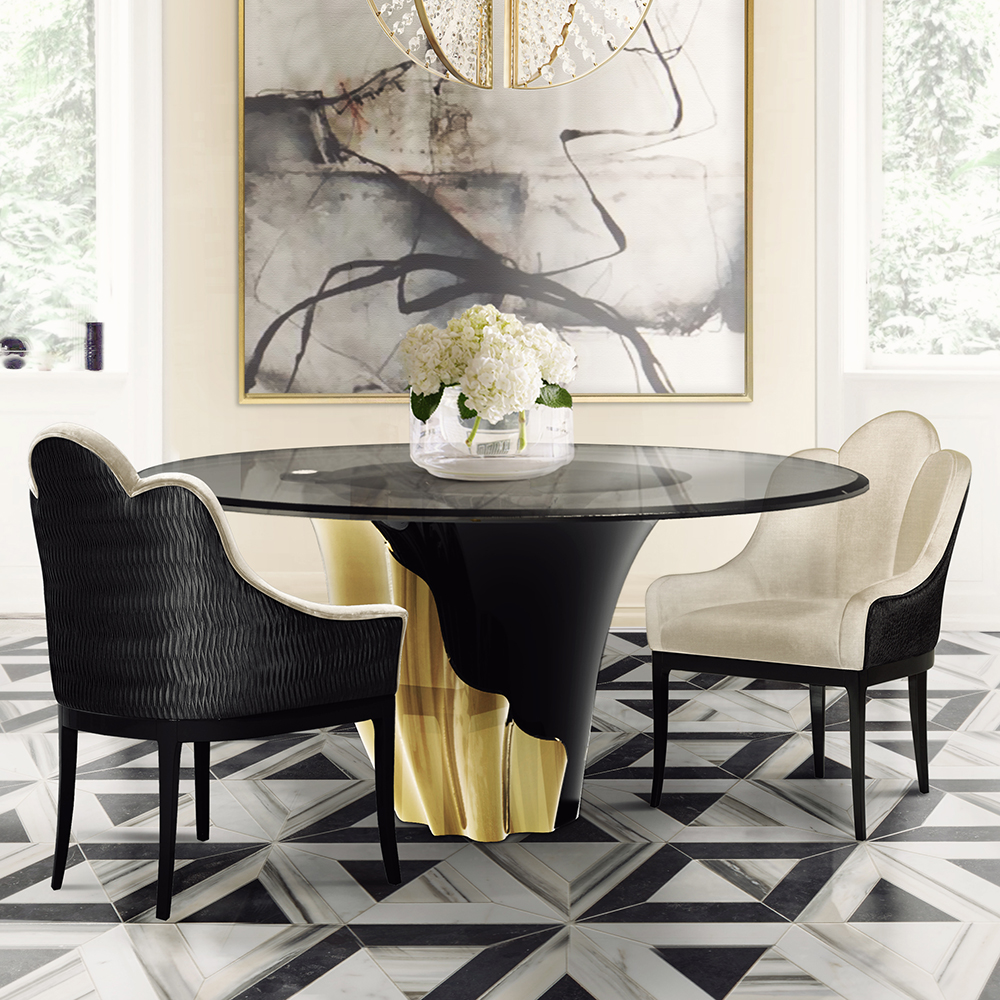 Feast Your Eyes Gorgeous Dining Room Decorating Ideas: York Yasmine Round Luxury Dining Table