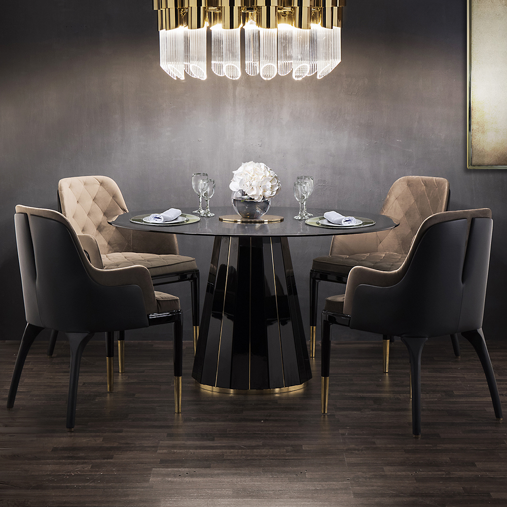 Dallas Darian Luxury Round Dining Table - Robson Furniture